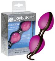 Vibrátor, dildó, műpénisz / Kéjgolyók, tojás vibrátorok / Titkos labdák - rózsaszín/fekete (Joyballs)