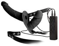 Vibrátor, dildó, műpénisz / Felcsatolható péniszek / Double Thruster - felcsatolható dupla vibrátor (fekete)