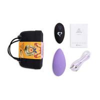 Vibrátor, dildó, műpénisz / Klitorisz izgatók / FEELZTOYS Panty - akkus, rádiós vibrációs tanga (lila)