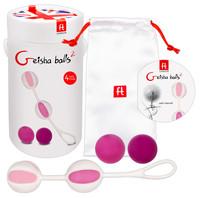 Vibrátor, dildó, műpénisz / Kéjgolyók, tojás vibrátorok / Geisha Balls 2 - variálható gésagolyó szett (pink-fehér)