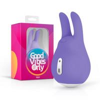 Vibrátor, dildó, műpénisz / Klitorisz izgatók / Good Vibes Tedy - akkus, nyuszis csikló vibrátor (lila)