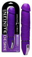 Vibrátor, dildó, műpénisz / Vibrátorok (rezgő vibrátor) / Infinite Desire - 10 ritmusú szilikon vibrátor (lila)