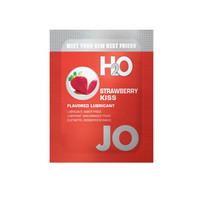 Előjáték, kellékek / Síkosító, masszázs olaj / JO H2O epres csók - vízbázisú síkosító (10 ml)