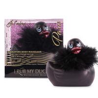Vibrátor, dildó, műpénisz / Klitorisz izgatók / My Duckie Paris 2.0 - játékos kacsa vízálló csiklóvibrátor (fekete)