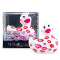 Vibrátor, dildó, műpénisz / Klitorisz izgatók / My Duckie Romance 2.0 - csókos kacsa vízálló csiklóvibrátor (fehér-pink)