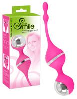 Vibrátor, dildó, műpénisz / Kéjgolyók, tojás vibrátorok / SMILE Love Ball - vibrációs gésagolyó (pink)
