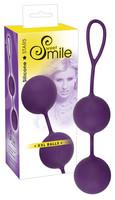 Vibrátor, dildó, műpénisz / Kéjgolyók, tojás vibrátorok / SMILE XXL Balls - óriás gésagolyók (lila)