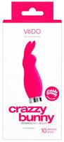 Vibrátor, dildó, műpénisz / Klitorisz izgatók / VeDO Crazzy Bunny - akkus, nyuszis csiklóvibrátor (pink)
