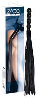 Bondage, Kötözés, S/M / Korbácsok, paskolók / ZADO - bőr korbács, hullámos nyéllel (fekete)
